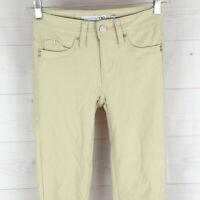 YMI womens size 0 stretch solid beige hyper twill skinny slim shaping jegging