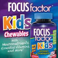 FOCUS Factor Kids Children's 150 Chewable Tablets Vitamins - Berry Blast