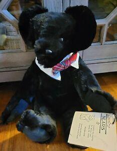 "Handmade Real Mink Fur 16"" Teddy Bear Fully Jointed German glass eyes"