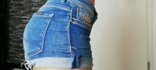 Supperdry Damen sexy Hotpants short Jeans Hose Sommer Hose blau Gr.W28 stretch