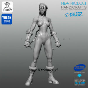 Street Fighter Female Boxer Unpainted Resin Kits Model GK Figurine YuFan 75mm