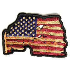 Embroidered Vintage American US Flag Iron on Sew on Biker Patch Badge