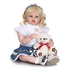 "28"" Reborn Doll for Baby Girl Handmade Lifelike Silicone Vinyl Newborn Clothes A"