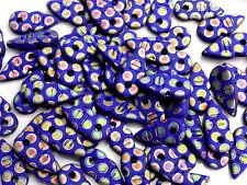 9202 Glass Beads Czech Drops Blue 19mm PK10 *UK  EBAY SHOP*
