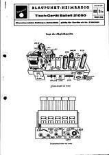 Blaupunkt Service Manual für Ballett 21050