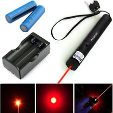 Assassin Red Laser Pointer Pen 650nm 18650 Lazer Beam 2x Battery +Dual Charger