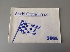 Sega Master System# World Grand Prix Manual Multilanguage Pal Full