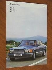 1980 Mercedes-Benz S Class 280 range original 50 page brochure plus spec folder
