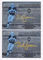 2x 2017 Majestic Rich Gannon Astonishing Arms Gold On Card Auto Lot Both # 34/49