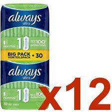 Always Ultra Normal Sanitary Towels Pads Size 1 Women Super Absorbent - 360 Pack