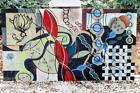 "Man Ray Marcel Duchamp Painting On Board ""Bio Tech """