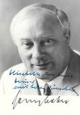 Georg Leber Bundesminister RARE | Authentic Autograph Signature Signed Card