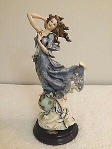 giuseppe armani celeste art deco lady figurine florence