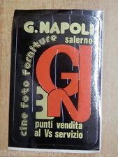 Vecchio adesivo G NAPOLI CINE FOTO FORNITURE SALERNO fotografia laboratorio del
