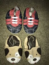 Tommy Tickle Infant Baby Boy 0-3-6 Months Leather Shoes Koala Baby Dog Puppy Lot