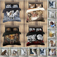Animal Print Duvet Cover Bedding Set + Fitted Sheet & Pillows OR Cushion Covers