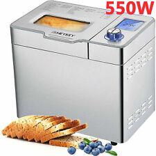 Brotbackautomat 19/25 Programme 1000 g, Brotbackmaschine, Joghurt, Edelstahl