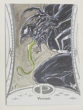2014 Marvel Premier Sketch Venom by Vince Sunico