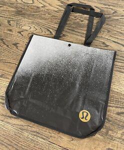 Lululemon Resuable Shopping Shopper Tote Bag B&W Splatter Speckled - RARE *NEW*