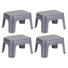 Rubbermaid Durable Plastic Step Stool w/ 250-LB Weight Capacity, Gray (4 Pack)