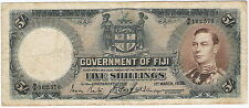 GOVERNMENT OF FIJI 5 SHILLINGS 1938 ~ P-37b ~ KING GEORGE VI ~ NICE PROBLEM-FREE