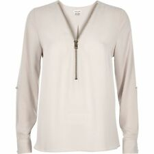 River Island Patternless Polyester Tops & Shirts for Women
