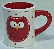 OWL Ceramic Coffee Tea Milo Mug Red 09563MUG New 9340536020532