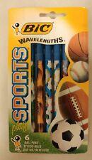 Vintage Bic Wavelengths Play Sports Pens!   6 Blue ink pens! Unique Items ! NICE