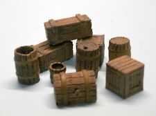 1/35 Scale  - Stowage pack 2 assorted wooden boxes and barrels
