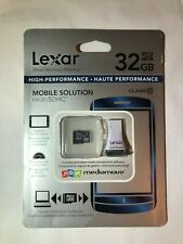 *New* Lexar 32GB High Speed Memory Card With Reader