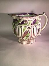 Staffordshire Pink Luster Enamel Decorated Pitcher Circa 1815