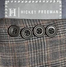 44L Hickey Freeman SILK LINEN Gray Brown Plaid Sport Coat Blazer Jacket