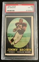 1958 Topps Football #62 Jim Brown RC PSA 4 VG-EX Cleveland Browns HOF