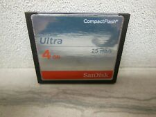 4GB SanDisk Ultra 25Mb/S CF Memory CARD compact flash card TESTED READ !