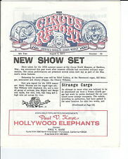 MB-054 - The Circus Report, New Show Set, August 8, 1977 Issue Vintage