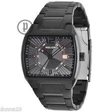 Police District Quartz Watch Black Dial+Stainless Steel Bracelet 13407JSB/02 Men