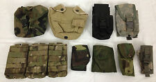Large Lot of 9 Various Molle ACU Pouches Military Gear Holder