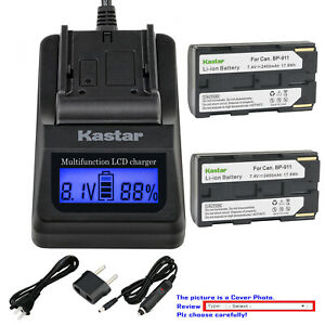 Kastar Battery LCD Fast Charger for Phase One P25 Plus P25+ P-Back Digital Back