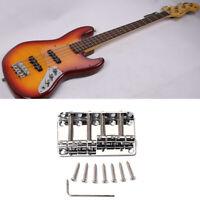 4 String Bridge Jazz Bass Guitar Parts For Fender P Bass Chrome 201B-4 Badass