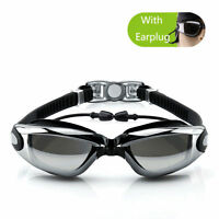 Pro Anti-fog UV Waterproof Swim Swimming Goggle Earplug Glasses Adjustable Hot