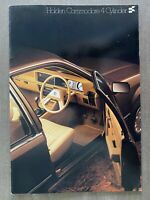 1981 Holden Commodore 4 Cylinder original Australian sales brochure (12/80)