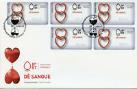 Portugal 2019 FDC Give Blood Relations 5v S/A Label Cover Medical Health Stamps