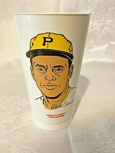 1972 Roberto Clemente Pittsburgh Pirates 7 Eleven Drink Slurpee Cup - 7-11