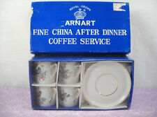 Royal Crown Arnart Fine China Coffee Service Espresso Shot Cup Sauser Set