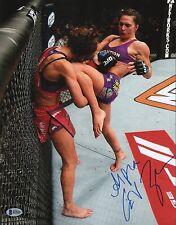 Cat Zingano Signed UFC 11x14 Photo BAS COA TUF 17 TKO Win vs Miesha Tate Picture