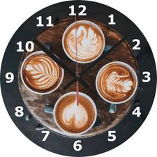 WALL CLOCK COFFEE 25cm Cup Mug Food Drink Love Home Decor Kitchen diy 1047