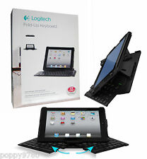 New Logitech Wireless Ultrathin Fold-Up Keyboard for iPad 2 / 3 / 4  - Black