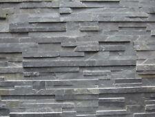 pièces de PATRON ca.15x30cm Le pierre naturelle - lanières anthracite brique