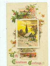 ARTIST SIGNED A. VON BEUST 1911 CHRISTMAS GREETINGS #201 (SA269)