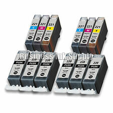 12+ PACK PGI-220 CLI-221 Ink Tank for Canon Printer Pixma iP3600 iP4600 NEW